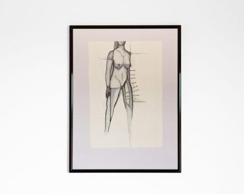Akt 98 - Bleistift-Zeichnung - Copics