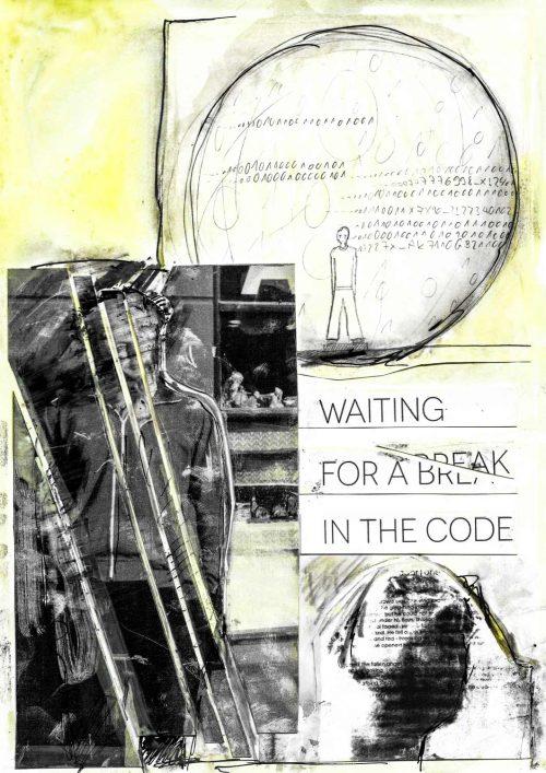 Feather Eye - Break in the Code - Kunstdruck