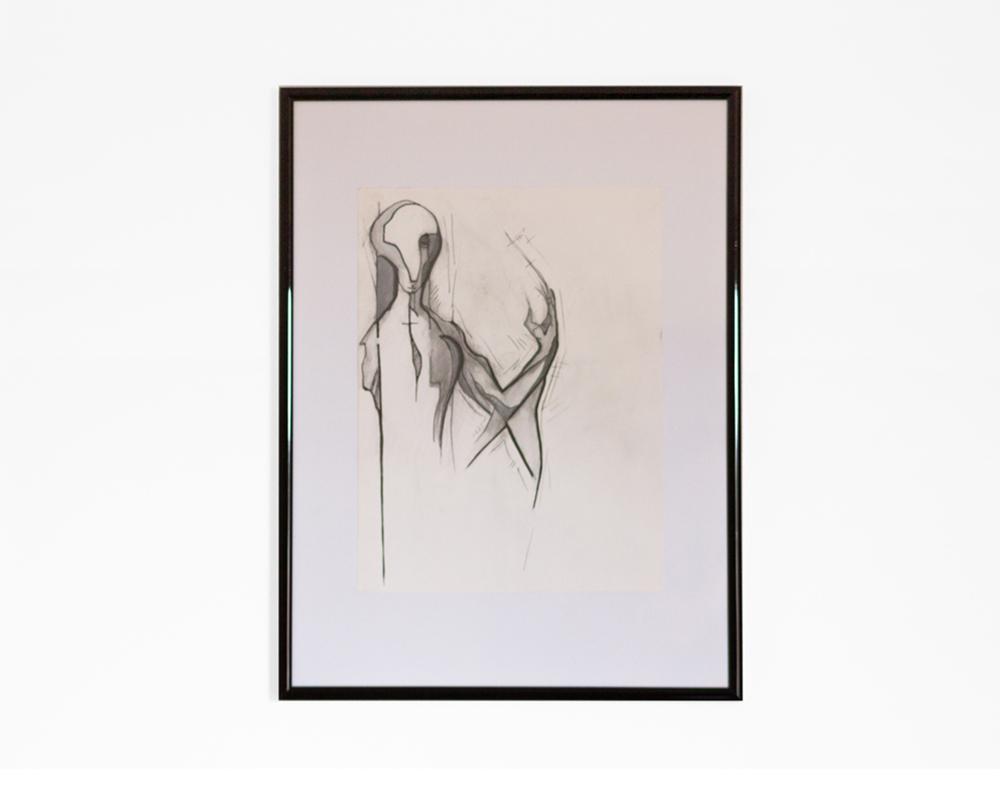 Kittel - Original - Bleistift Zeichnung - Graphit Stifte