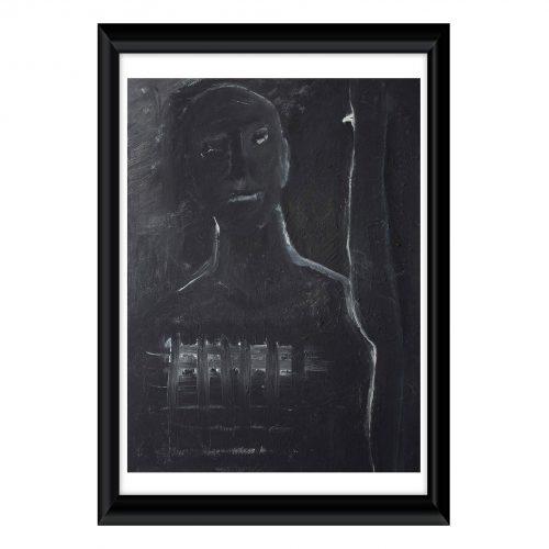 Portrait 006 - Acryl auf Leinwand - Original Kunstwerk