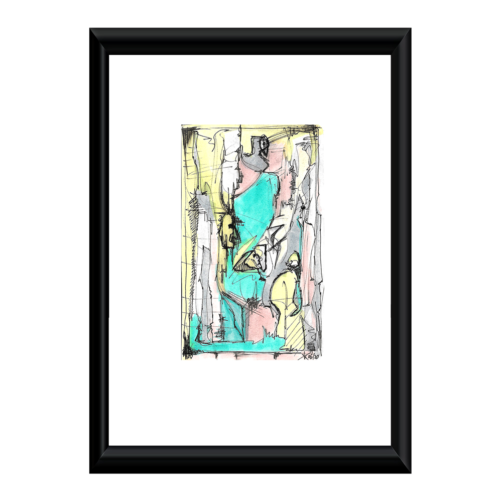 abstract colors artwork 128mm 210mm