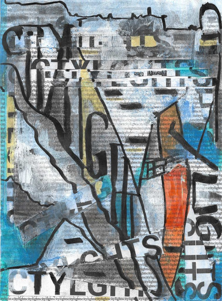 Citylights V2 - Original Kunstwerk - Mixed Media Collage