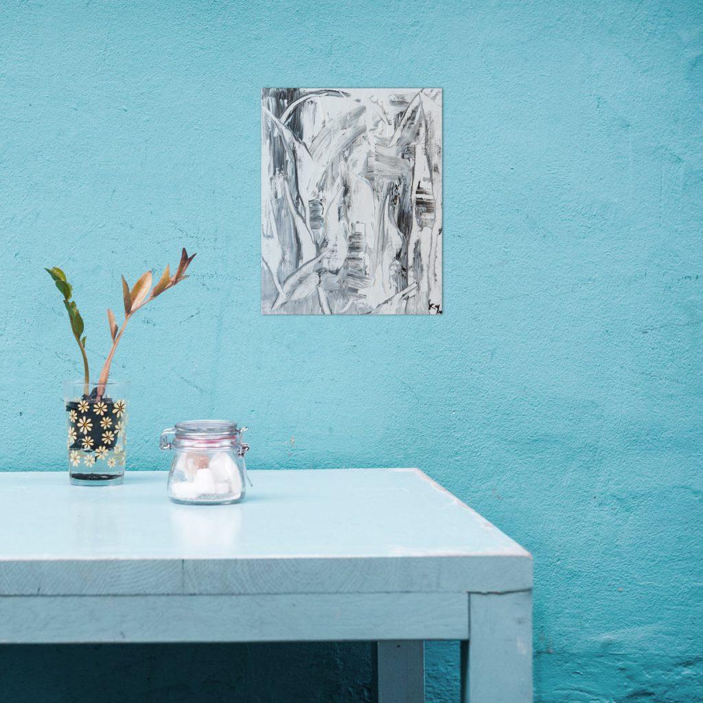 Head Abstract - Acryl Malerei auf Holzmalplatte