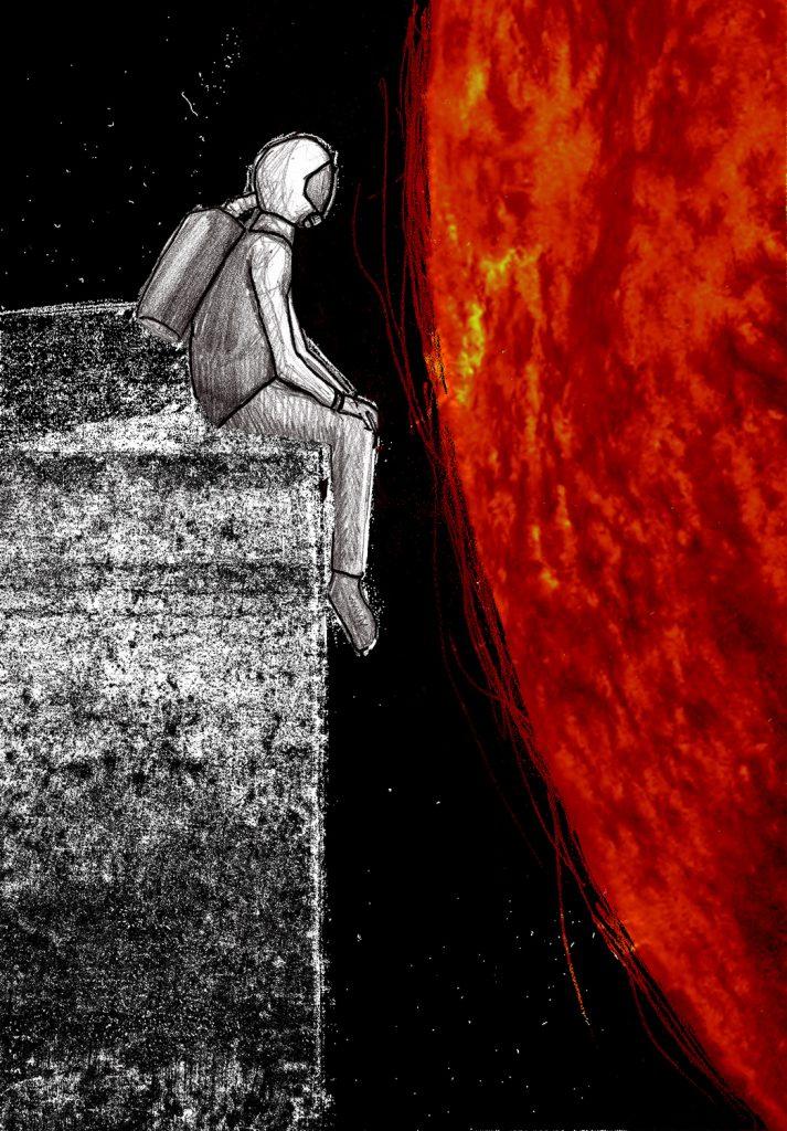 Spaceman - Kunstdruck - Mixed Media
