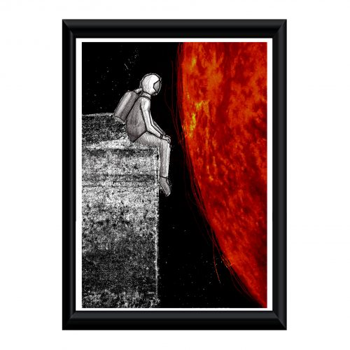 Spaceman - Kunstdruck - Mixed Media - gerahmt