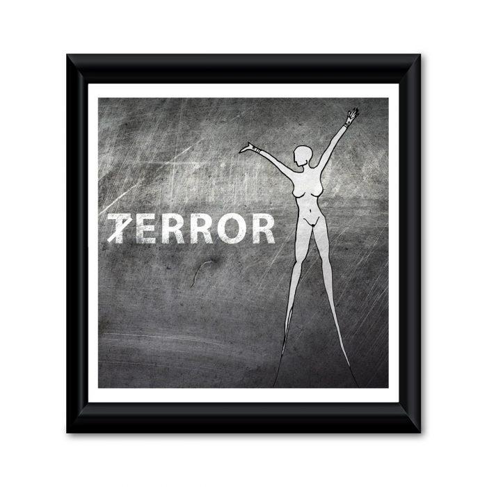 Terror / Error Kunstwerk gerahmt