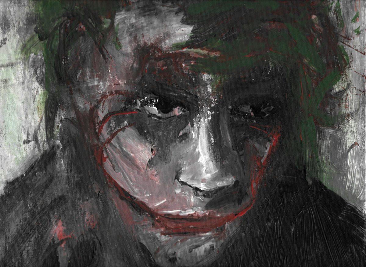 Heath Ledger als The Joker - Acryl Malerei